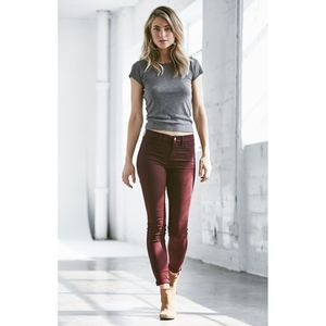 PACSUN size 27 dark burgundy stretchy leggings